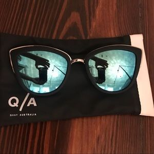 Quay Reflective Blue Sunglasses